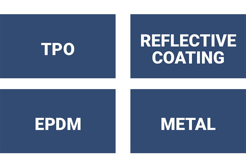 We use durable EPDM materials and TPO roofing membranes